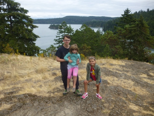 Nikolai and his cousins at Deception Pass