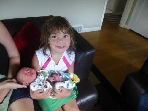 Kaya and baby cousin Silas