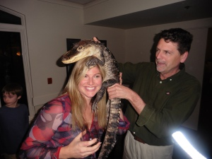 Sorry Sanjay, but it looks like Tracy's found a more handsome reptile