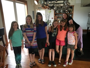 Taking the girls to Whidbey and Tyla & Vince's Orchard Kitchen