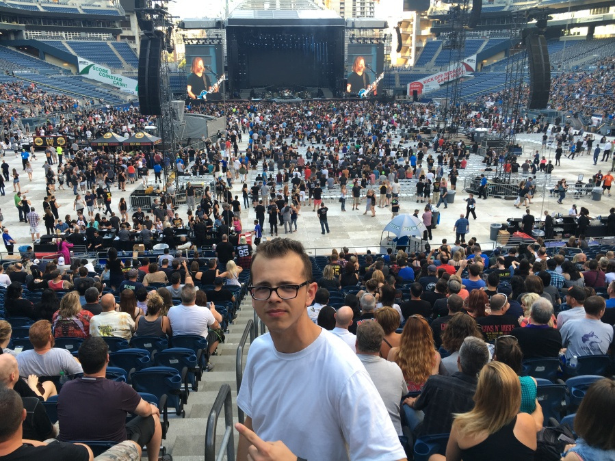 Nikolai's birthday, August 12, at Century Link watching Alice 'n' Chains and Guns 'n' Roses
