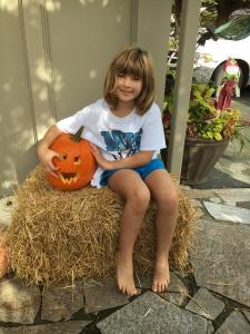 Kaya and her pumpkin