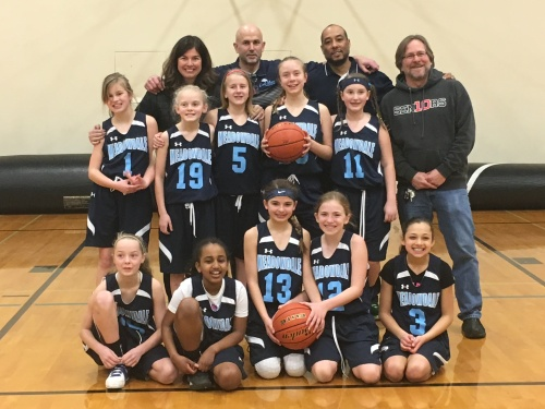 6th Grade Lady Mavs Feeder Team & Coaches Terry, Caleb, Leon, David