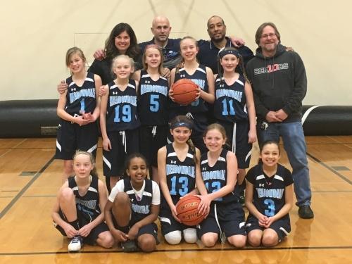 6th Grade Lady Mavs Feeder Team & Coaches Terry, Caleb, Leon, David
